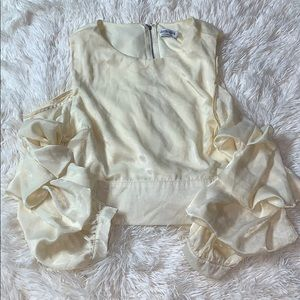 Ivory shoulder cut blouse